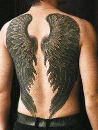 27 wings back tattoos