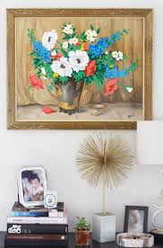 thrift store diy home decor make your own paint by numbers by painting over a dull thrift shop