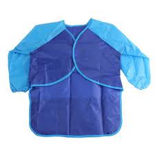 plastic apron for art u0026 craft kids size long sleeves blue