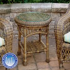 Outdoor Patio End Tables Wicker End Table Outdoor Resin Side Table