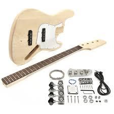 Diy Kit by La J Electric Bass Guitar Diy Kit At Gear4music Com
