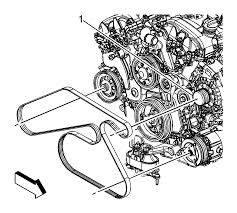 repair instructions on vehicle drive belt replacement ly7