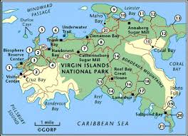 map usvi national park hiking trail map for st us islands