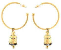 gold jhumka hoop earrings zest indian golden jhumkas swarovski hoop earrings for