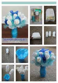 How To Make A Diaper Bouquet Picture Tutorial Diaper Bouquet