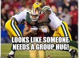 Group Hug Meme - packer group hug imgflip