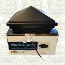 trex post cap lights 4 trex charcoal black pyramid post cap light the deck store online