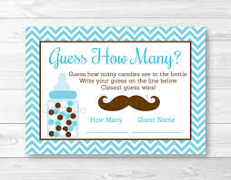 baby shower guessing mustache guess how many mustache baby shower