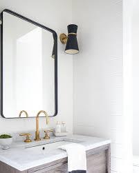 Metal Framed Mirrors Bathroom 30 X 42 Rounded Rectangle Metal Framed Mirror Coastal Powder