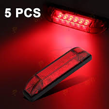 red led marker lights partsam 5x 4 utility strip light bar led marker light 12v truck