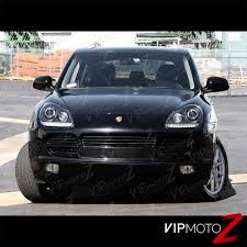 porsche cayenne all black 2003 2006 porsche cayenne 955 xenon hid black left right