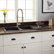 Kitchen Faucets For Granite Countertops Sinks Single Bowl Drop In Granite Composite Sink Titanium