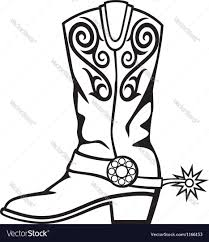 cowboy boot royalty free vector image vectorstock