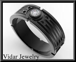 wars wedding bands on sale wars 14k black gold diamond men wedding ring on