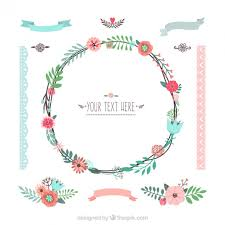 variety of floral decoration vector free