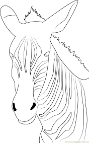 angry zebra coloring page free zebra coloring pages