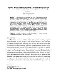 pengaruh aktivitas bisnis internasional dan kebijakan hutang