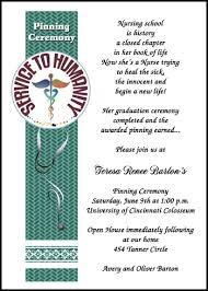 graduation ceremony invitation nursing service to humanity pinning ceremony invitations and