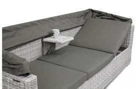 canape resine exterieur canapé de jardin avec auvent rabattable pièce à vivre