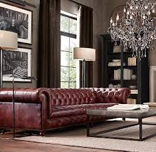 Restoration Hardware Kensington Leather Sofa Cambridge Leather Sofa