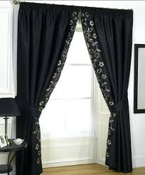 black curtains for bedroom black lace curtains holly black lace