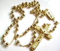 gold rosary 14k gold plated copper rosary cross catholic