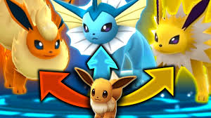 pokemon go how to evolve eevee into a vaporeon jolteon or flareon