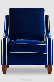 White Armchairs For Sale Design Ideas Gracie Blue Velvet Armchair With White Piping Zoom Navy Sectional