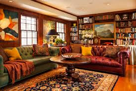 Brown Red And Orange Home Decor Awesome Home Decor Library Interior Design Penaime