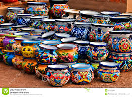 mexican ceramic pottery colorful ceramic pottery with designs
