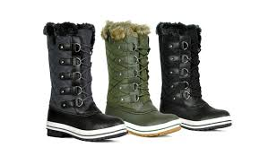 s boots calf length sfd s mid calf arctic warm fur lined water resistant