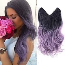 secret hair extensions hairphocas 20 black to purple violet dip dyed colored secret