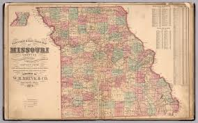 Illinois Road Map by Township And Rail Road Map Of Missouri David Rumsey Historical
