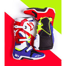 sixsixone motocross boots alpinestars limited edition des nations tech 10 boots white red