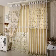 Curtains Set Sant Embroidered Window Shade Blind Curtains Set Sheer
