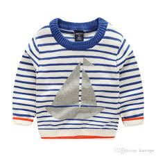 baby cardigan blue striped boat design boys sweaters