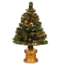 national tree company 5 ft fiber optic led evergreen artificial