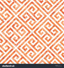 seamless coral greek key background pattern stock vector 128711951