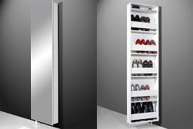 Wall Hung Shoe Cabinet Tall Storage Units Tall Wall Mounted Shoe Cabinet With Mirror