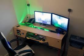 desk plan for gaming station computer desk design also