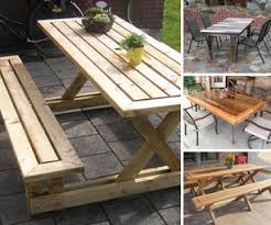 Building Outdoor Wood Table by Diy Outdoor Table