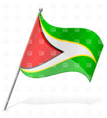 Guyana Flag Wavy Flag Of Guyana Royalty Free Vector Clip Art Image 38680