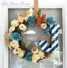 diy fall wreath for under 10 riss home design home decor