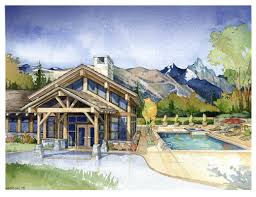 lodge 300 1 watercolor architectural illustrations hanson