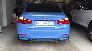 Bmw M3 Back - 2016 bmw m3 lci f80 updated tail lights in action youtube