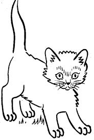 coloring page of a kitty kitten coloring pages getcoloringpages com