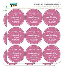 Wedding Planner Calendar Graphics And More Personalized Custom Dark Pink Line Circle Thank