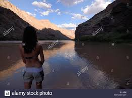 Colorado scenery images Girl watching the beautiful scenery of the colorado river in the jpg