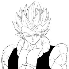 fusion super saiyan gogeta dragon ball z coloring pages