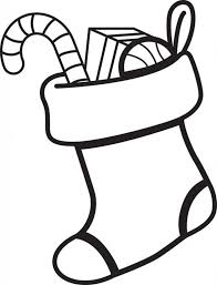 free printable christmas stocking coloring page for kids